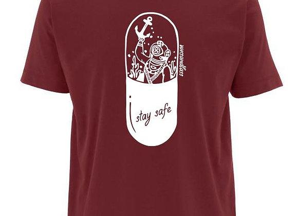 VON SANDLASS Herrenshirt mit Taucher in Burgundy