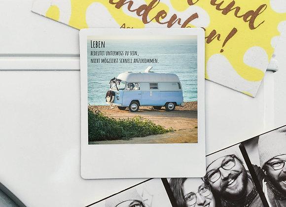 "Magnet ""Bulli am Meer"" in Polaroid-Optik (3 Stk. für 12€"