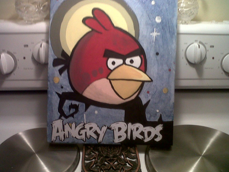 Angry Birds Acrylic Painting - 2013