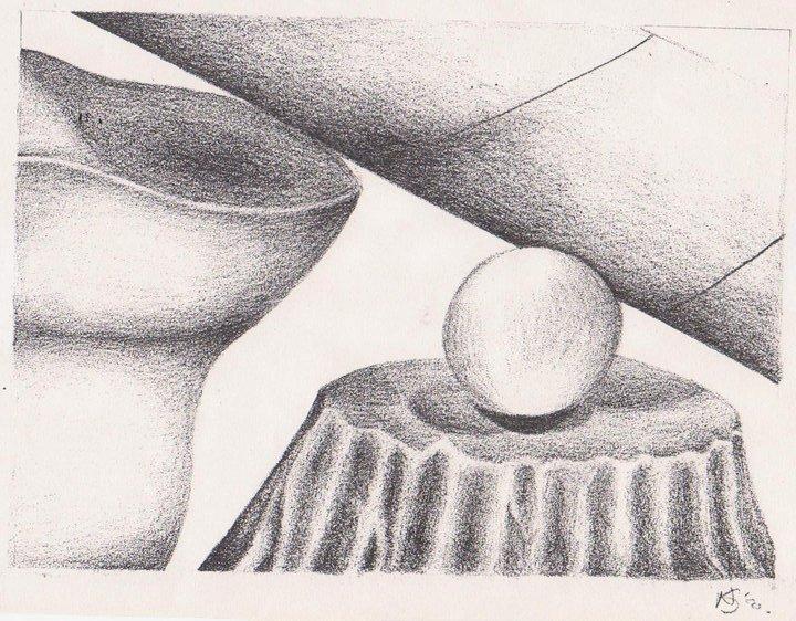 Still life Pencil shading - 1999