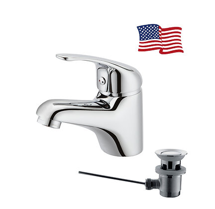 Alrode basin mixer with pop-up waste