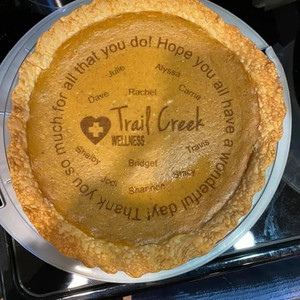 Al made us this cool pie!