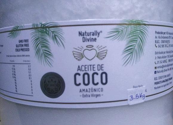 ACEITE DE COCO AMAZONICO - NATURALLY DIVINE