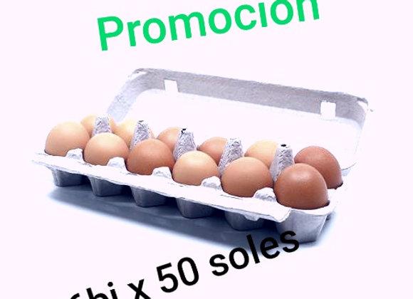 HUEVO DE GALLINA DE CORRAL  x6 BANDEJAS S/.50.00