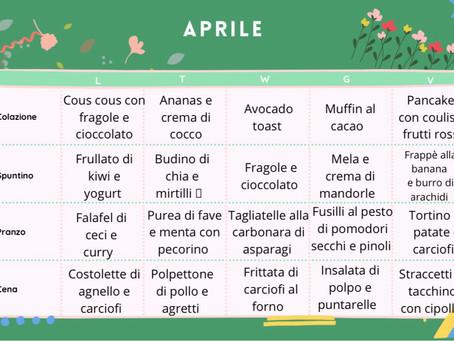 Menu di Aprile