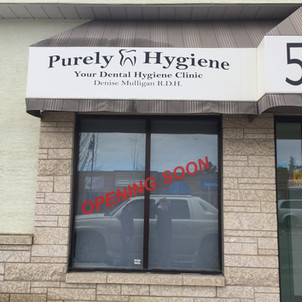 Purely Hygiene Awning Decals