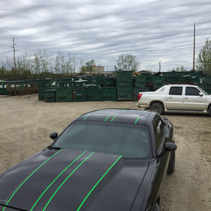 Custom Dodge Challenger Striping