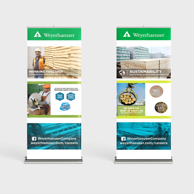 Weyerhaeuser Retractable Banners