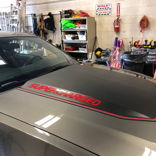 Hood Scoop Wrap and Decalling