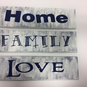 Home Family Love Stencil Sign
