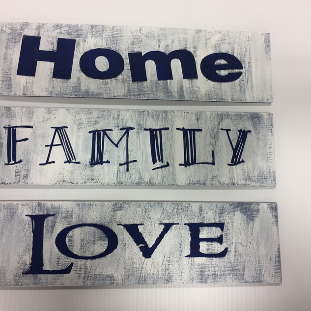 Home Family Love Stencil Sign