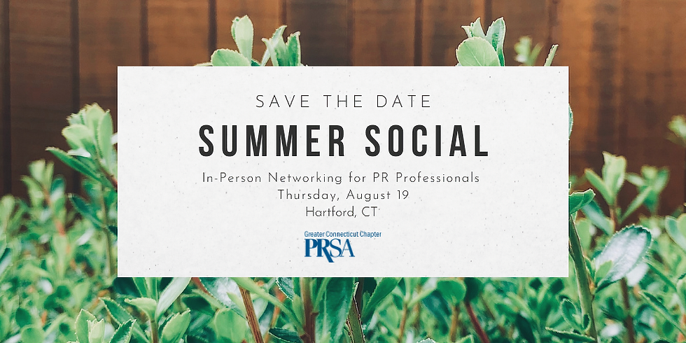Summer Social: In-Person Networking for PR Professionals