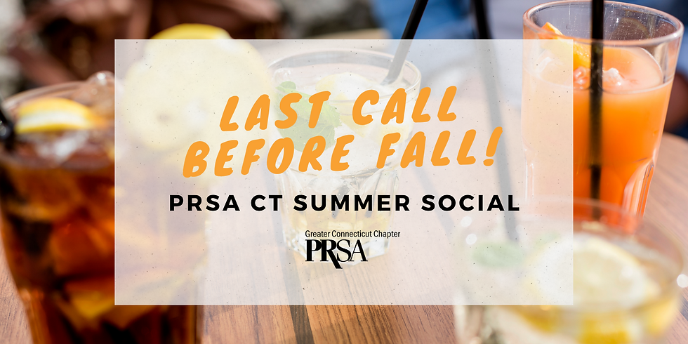 Last Call Before Fall: PRSA CT Summer Social