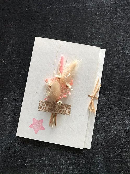 Carte fleurs séchées