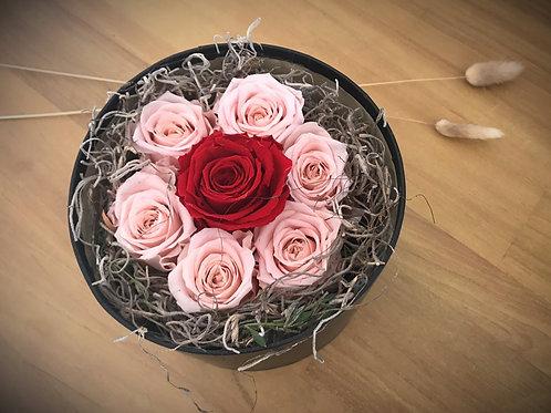 Boîte à chapeau de roses éternelles