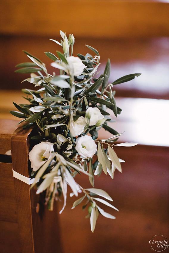 Bouquet de banc d'église