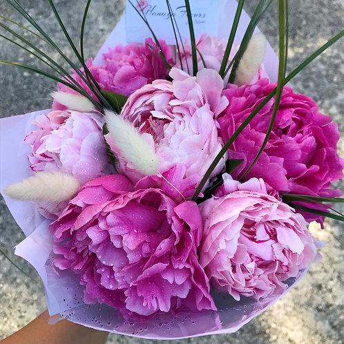 Abonnement 5 bouquets pivoines éco-responsables