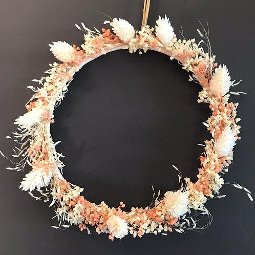 Ombeline - Couronne de fleurs séchées à suspendre