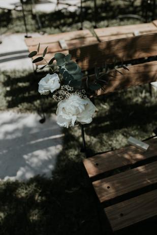 Bouquet de chaise champêtre chic