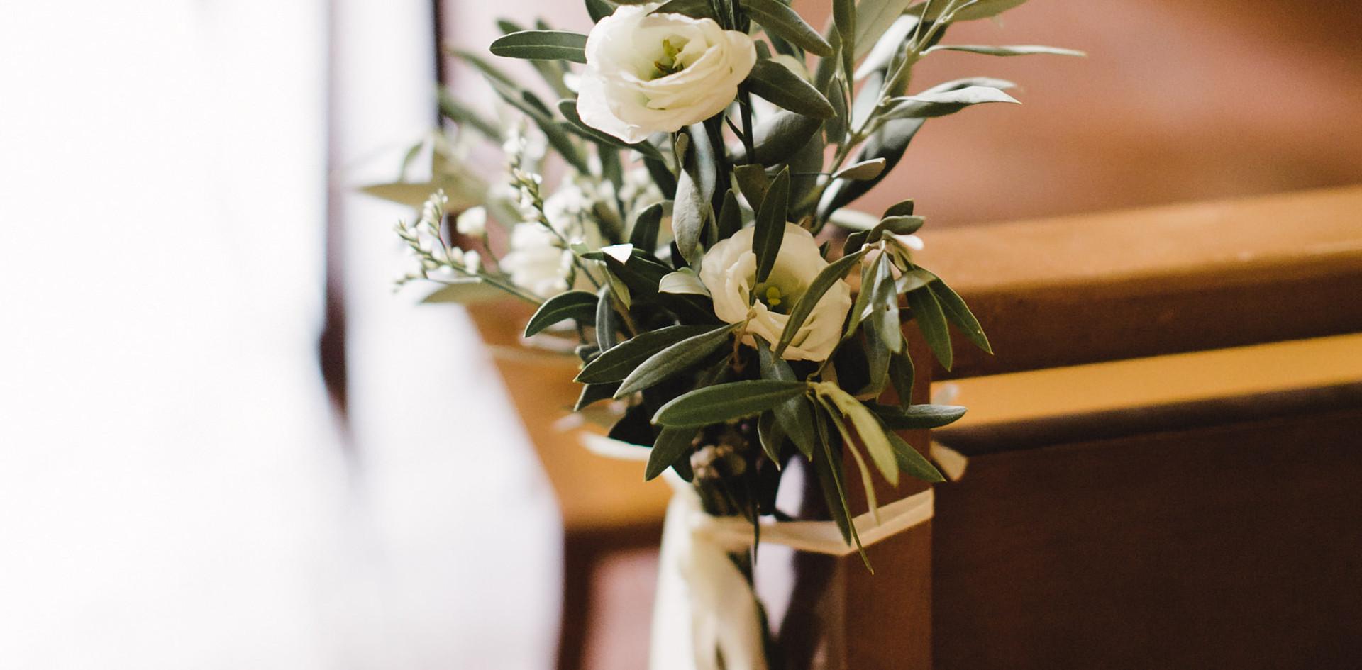 Bouquet de banc d'eglise olivier