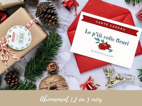 Carte Cadeau P'tit Colis Fleuri