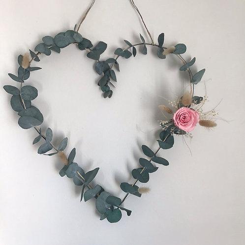 Suspension cœur eucalyptus stabilisé