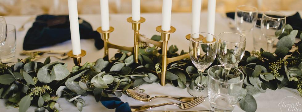 Guirlande eucalyptus Table d'honneur Hanaya Fleurs