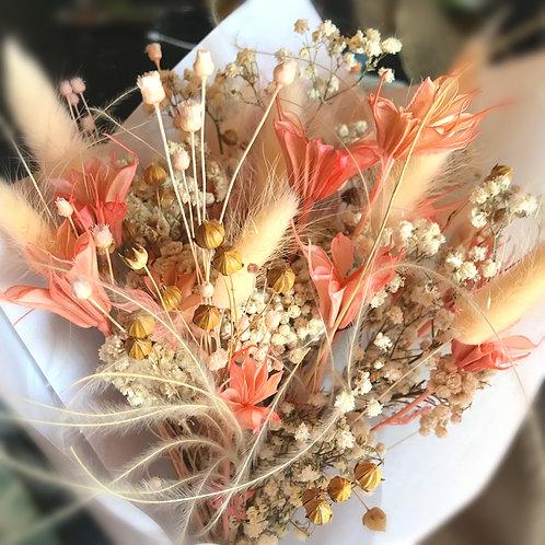 Bouquet de Fleurs Séchées Corail