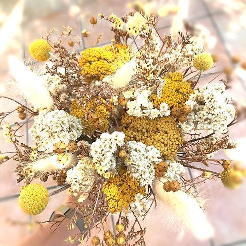 Bouquet de Fleurs Séchées moutarde
