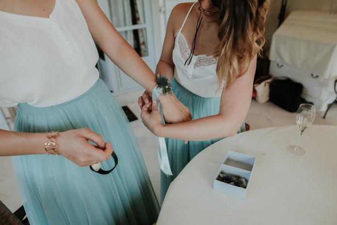 Bracelet floral de témoin