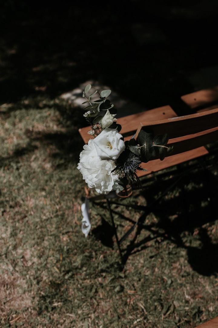 Bouquet de chaise cérémonie laïque