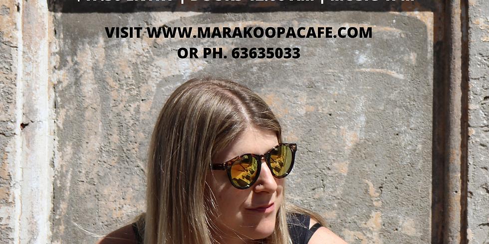 Tracey Barnett live at Marakooper Cafe