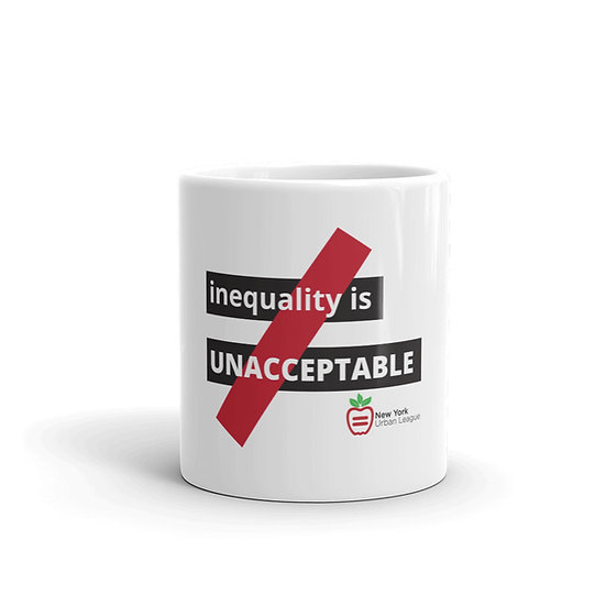 Inequality Is Unacceptable Logo Mug