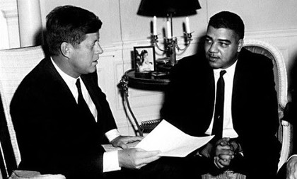 Whitney M. Young Jr. and John F. Kennedy