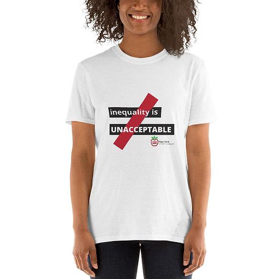 White Inequality is Unacceptable Short-Sleeve Unisex T-Shirt