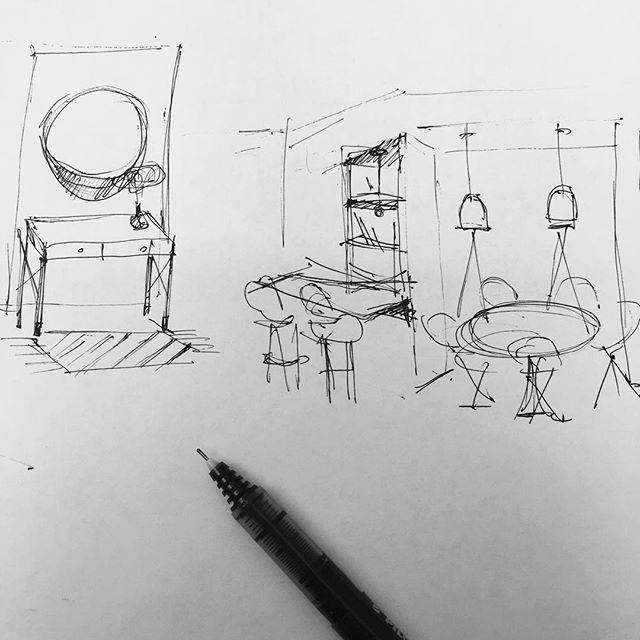 . . . . #thinking#sketchbook #sketch #sk