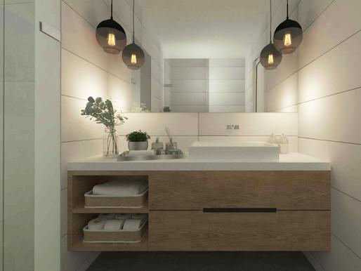 איך להפוך חדר רחצה קטן לגדול ומפנק //עיצוב חדר רחצה קטן והפיכתו לגדול ומזמין יותר באמצעות 4 כללים
