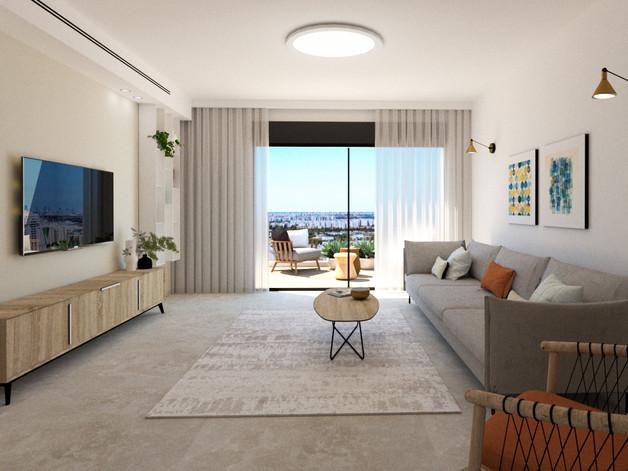 עיצוב ותכנון דירה במרכז// 2021
