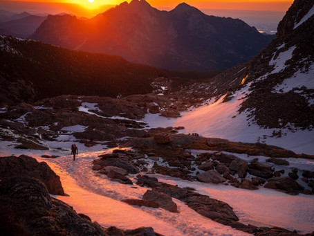 Sunrise Photography at Chasm Lake in Rocky Mountain National Park, Colorado