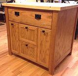 Oak Island, Maple top, custom cabinetry