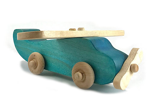 Wooden Airplane Push Toy