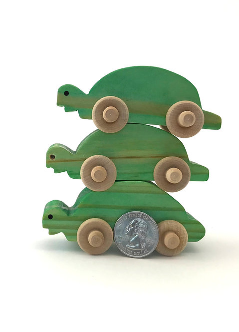 Small Wooden Turtles- 3 Pack