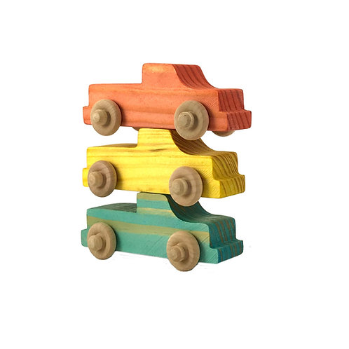 Small Wooden Trucks- 3 Pack
