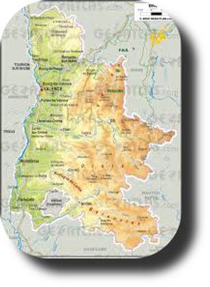 Carte Drôme St Vincent la COmmanderie