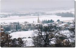 Vue du village de St Vincent la Comm