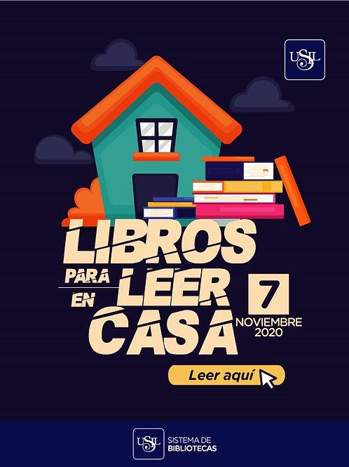 Libros para leer en casa (Nro. 7, noviembre 2020)
