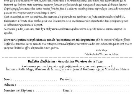 WARRIORS DE LA TOXO - Adhésion 2019/2020