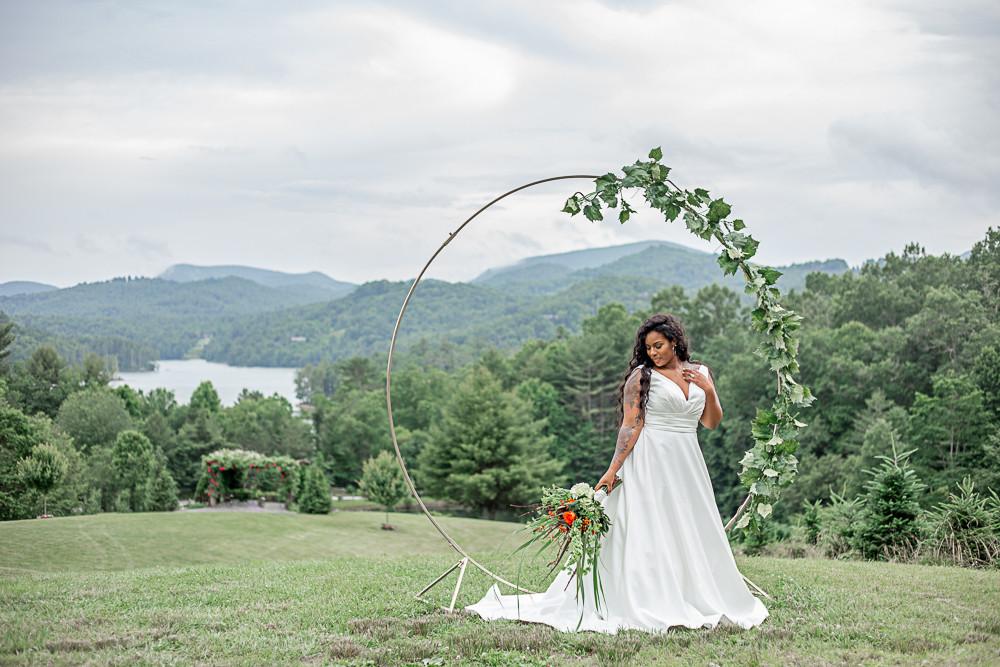 bride at sawyer family farm