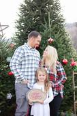 family wishing a merry Christmas