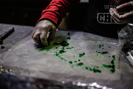 sorting glass candy